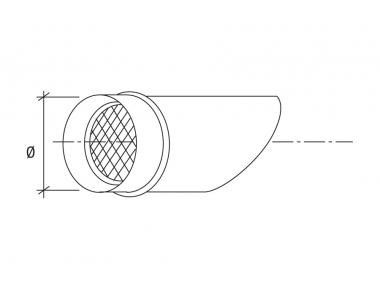 Terminale Inox con Rete Antivolatile